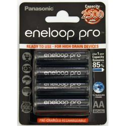 4 AA Eneloop pro - 2500mAh